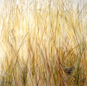 grass nest: pigment and acrylic on canvas