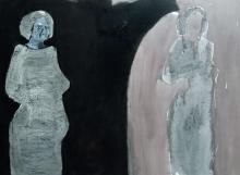 Self and Shadow Self, acrylic and charcoal on canvas, © Belinda Broughton