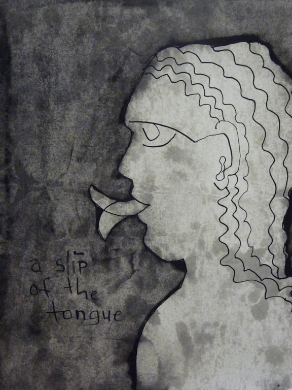 A Slip of the Tongue (Chinese ink on paper) Belinda Broughton