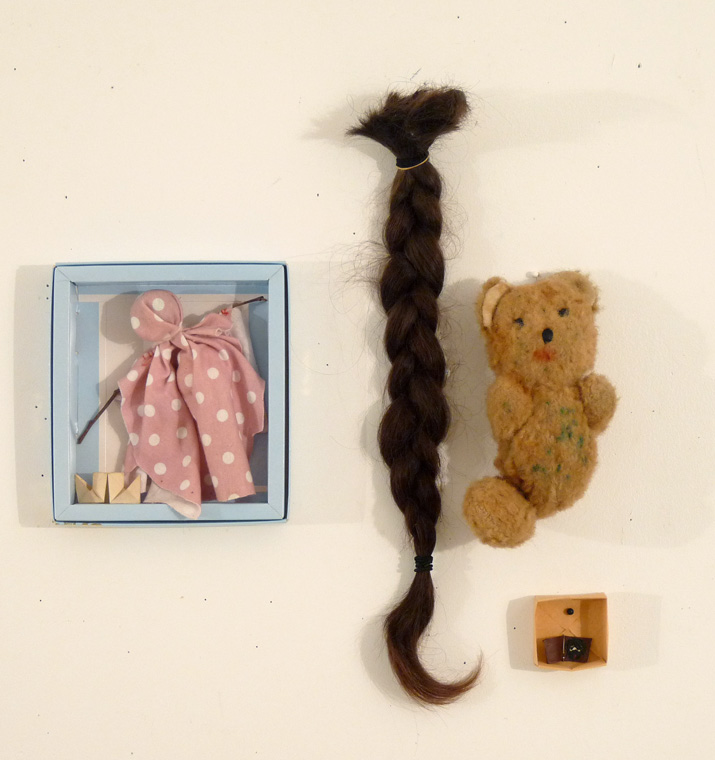 Han, From the Chocolate Box Art series. found objects, pins.  © Belinda Broughton