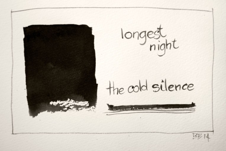 longest night (haiga) © Belinda Broughton