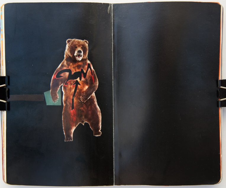 Art Bear  collage in moleskin © Belinda Broughton