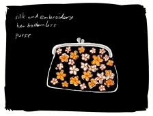 silk and embroidery / her bottomless / purse