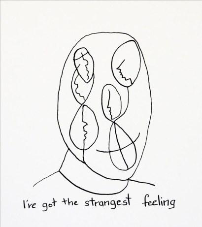 Strange feeling, ink on paper. Belinda Broughton