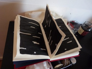 Altered book/found poetry. Belinda Broughton